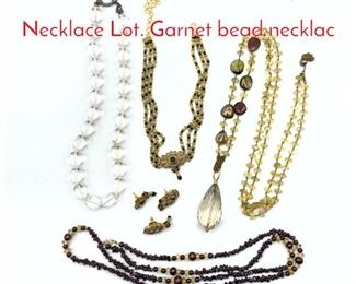 Lot 237 5pc Costume Jewelry  Necklace Lot. Garnet bead necklac