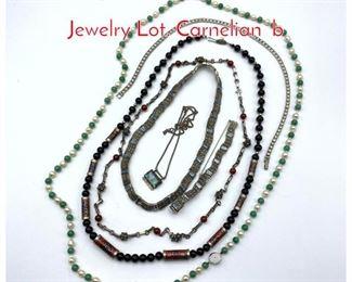 Lot 239 7pc Sterling  Silver Vintage Jewelry Lot. Carnelian b