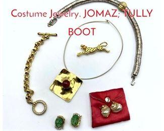 Lot 240 8pc Vintage designer Costume Jewelry. JOMAZ TULLY BOOT