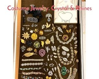 Lot 265 LOT A Large Box Lot Costume Jewelry. Crystal  Rhines