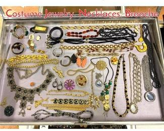 Lot 266 LOT B Large Box Lot Costume Jewelry. Necklaces. Brooche