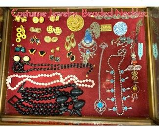 Lot 270 LOT F Large Lot Vintage Costume Jewelry. Beaded Necklac