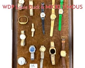 Lot 272 LOT H Lot Vintage Watches. WDP Louie Duck  MICKEY MOUS