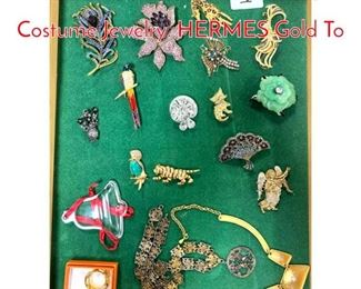 Lot 273 LOT l Large Lot Vintage Costume Jewelry. HERMES Gold To