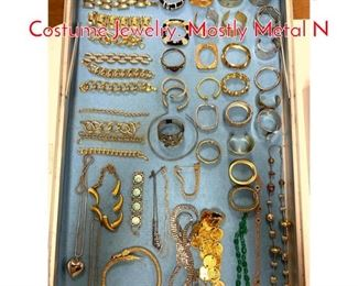 Lot 274 LOT J Large Lot Vintage Costume Jewelry. Mostly Metal N