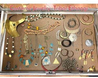 Lot 275 LOT K Large Lot Vintage Costume Jewelry. Tribal Ethnogr
