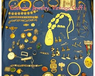 Lot 278 LOT N Large Lot Vintage Costume Jewelry. Vintage Cuff l