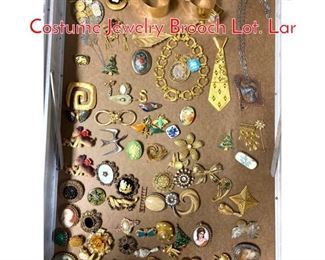Lot 279 LOT P Large Lot Vintage Costume Jewelry Brooch Lot. Lar
