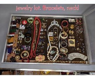 Lot 284 Case Lot U. Large costume jewelry lot. Bracelets, neckl