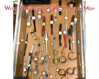 Lot 285 LOT V Large Lot Vintage Wrist Watches. SWATCH. Faux Mov
