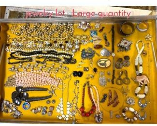 Lot 286 Case Lot W. Large costume jewelry lot. Large quantity