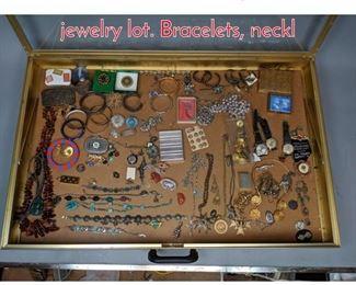 Lot 287 Case Lot X. Large costume jewelry lot. Bracelets, neckl