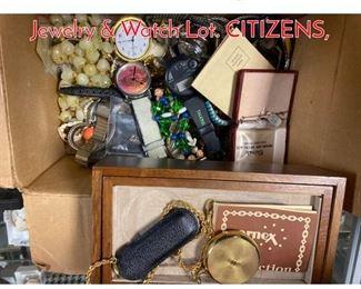 Lot 289 Box Lot Z. Large Costume Jewelry  Watch Lot. CITIZENS,