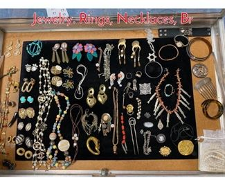 Lot 290 Case Lot AA Mixed Costume Jewelry. Rings, Necklaces, Br