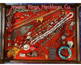 Lot 291 Case Lot BB Mixed Costume Jewelry. Rings, Necklaces, Cu