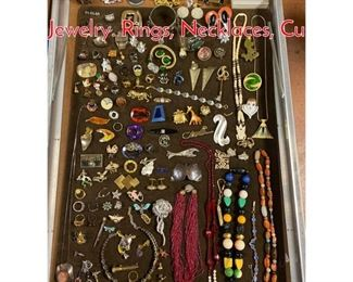 Lot 292 Case Lot CC Mixed Costume Jewelry. Rings, Necklaces, Cu