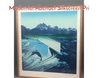 Lot 305 CHARLES MAGISTIO 1980 Modernist Abstract Silkscreen Pri