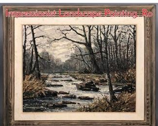 Lot 314 EDWARD S RUTKOWSKI Impressionist Landscape Painting. Ro