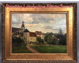 Lot 321 THERESE SCHACHNER Oil Painting Landscape Estate Scene.