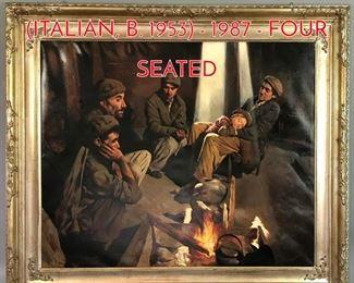 Lot 348 GIOVANNI STRINO ITALIAN, B. 1953  1987  FOUR SEATED