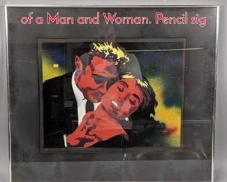 Lot 353 W ROBINSON Pop Art Print of a Man and Woman. Pencil sig