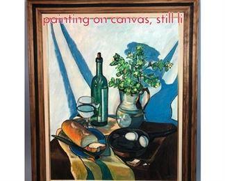 Lot 357 Elizabeth Smith, 1974, oil painting on canvas, still li