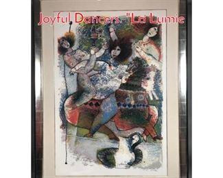 Lot 371 Artist signed Modernist Print Joyful Dancers