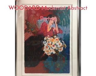 Lot 372 Signed ROY FAIRCHILD WOODARD Modernist Abstract Portrai