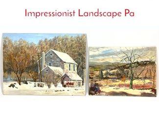 Lot 378 2 Basil Martin 1903  1988 Impressionist Landscape Pa