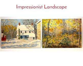 Lot 380 2pc Basil Martin 1903  1988 Impressionist Landscape