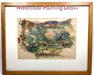 Lot 383 Bernard Karfiol 1886  1952 Watercolor Painting Drawi