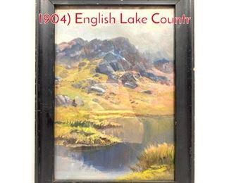 Lot 384 James Henry Crossland 1852  1904 English Lake Countr