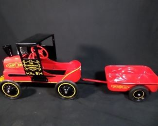 Casey Jones Pedal car and associated trailer ( Restored )