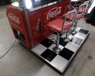 Perfectly restored Victor cooler and soda fountain counter. The best of the best