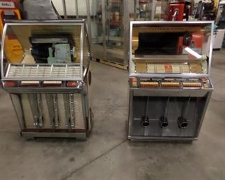 Seeburg juke boxes. Both working perfectly.