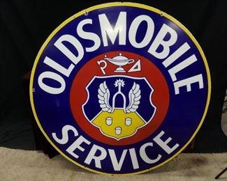 Stunning Double sided Oldsmobile Dealer sign.