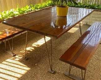 Mid century picnic table