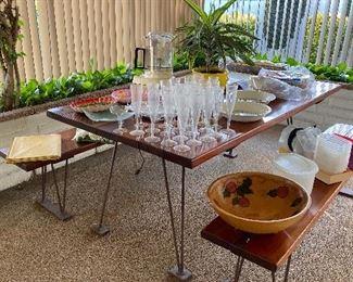 Mid century picnic table