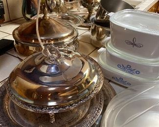 Lots of silver serving pieces