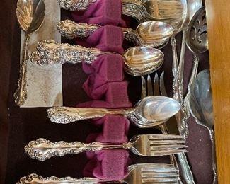 78 piece silver plate flatware set