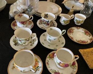 Tea cup collection. Including Old Country Roses