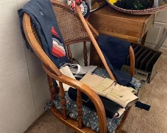 Oak desk and desk  chair