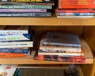 Garden and decorating books.