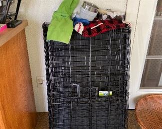 Dog crates and supplies