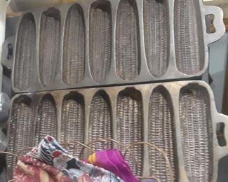 Vintage Cast Iron Corn Bread Pans
