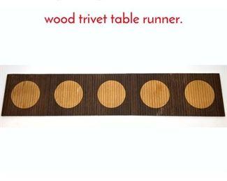 Lot 3 Kjode Skjern Danish two tone wood trivet table runner.