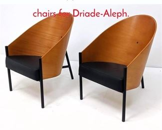 Lot 5 Pr Philippe Starck Pratfall chairs for DriadeAleph.