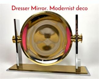 Lot 9 KARL SPRINGER Reversible Dresser Mirror. Modernist deco