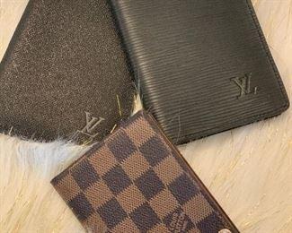 LOUIS VITTON PASSPORT WALLET AND CARD WALLET