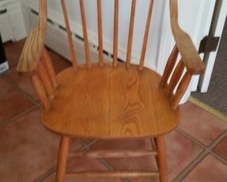 Set of 6 Windsor chairs. Two arm four sides